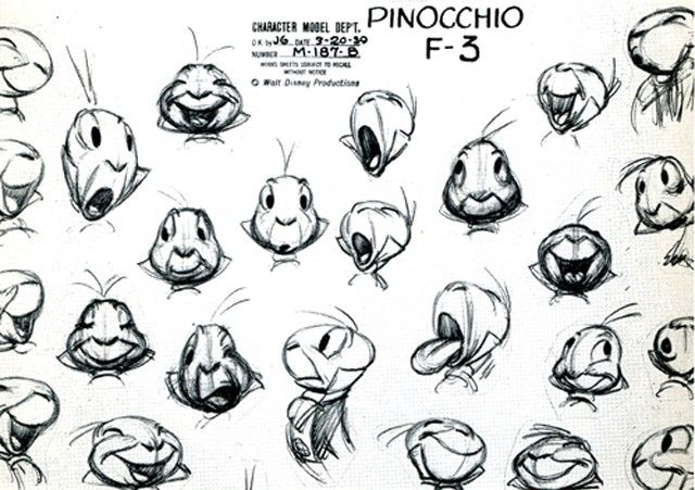 Pinocchio Character Model for Jimminy Cricket.