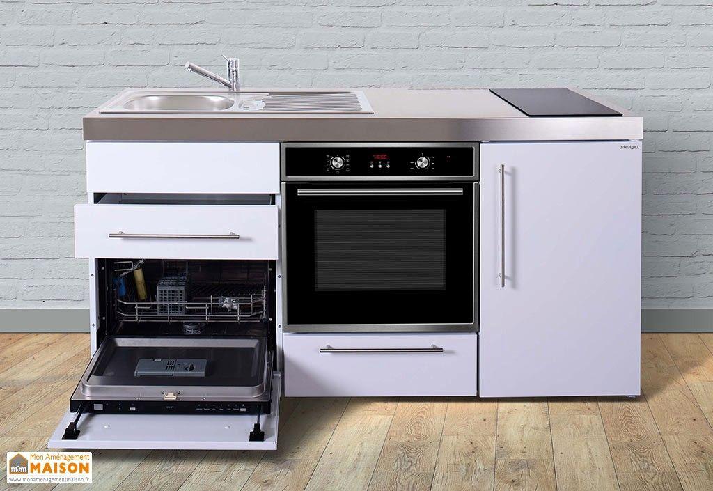 Bloc Cuisine Compact Pour Studio Beau Mini Cuisine Inox Avec Lave Vaisselle Et Vitroceramiques Mpgses110 Mini Cuisine Cuisine Aluminium Bloc Cuisine