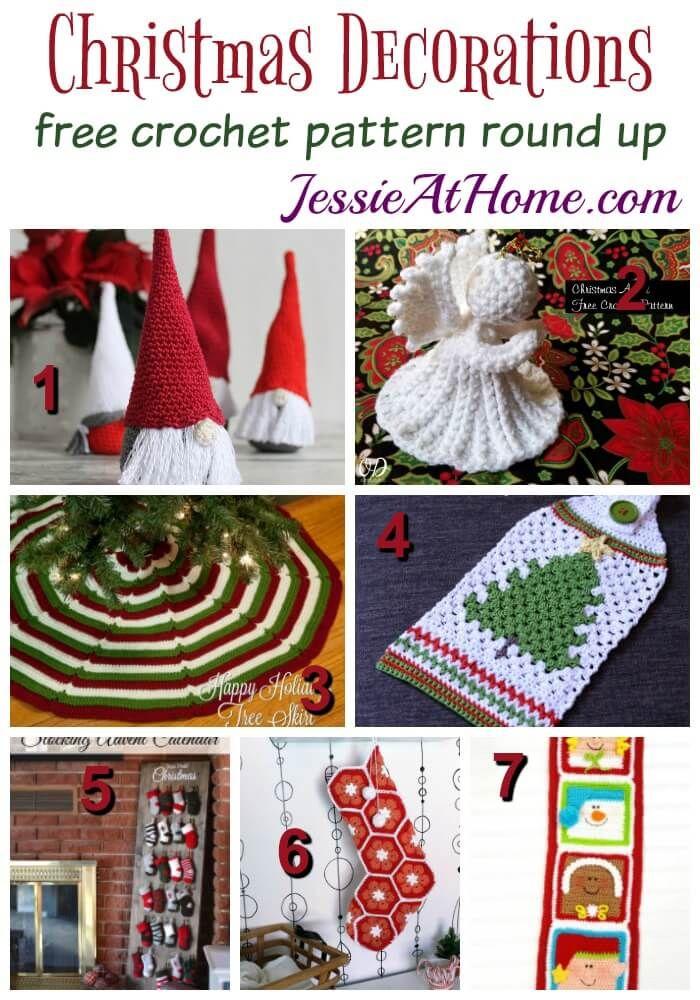 Encantador Crochet Patrón De La Corona De Navidad Gratis Colección ...
