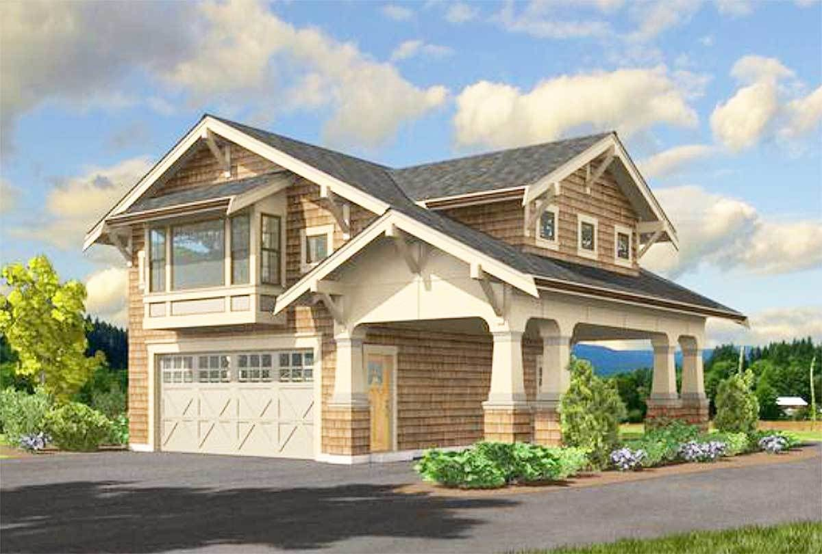 Garage Apartment Plan 23484jd Craftsman Garage Apartment Home Over Garage