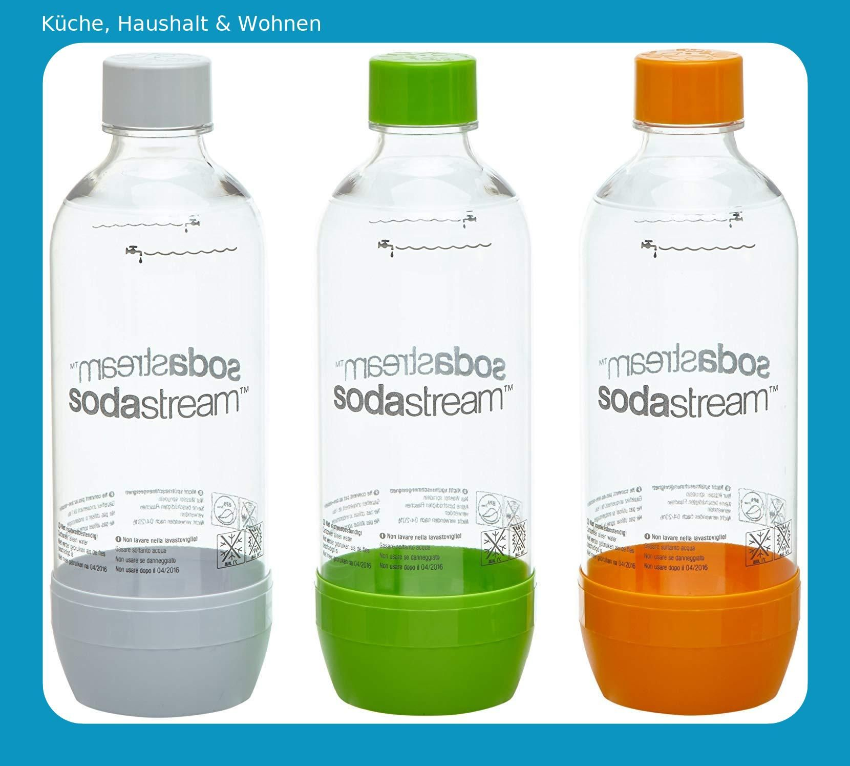SodaStream Pet-Flasche 2 orange//grün//weiß aus bruchfestem kristallklarem 1