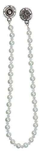 """1pc 13.25"""" White Pearl-Crystal Connector"""