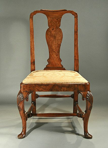 Late Queen Anne / Early George I walnut side chair, English, c. 1710 - Late Queen Anne / Early George I Walnut Side Chair, English, C. 1710