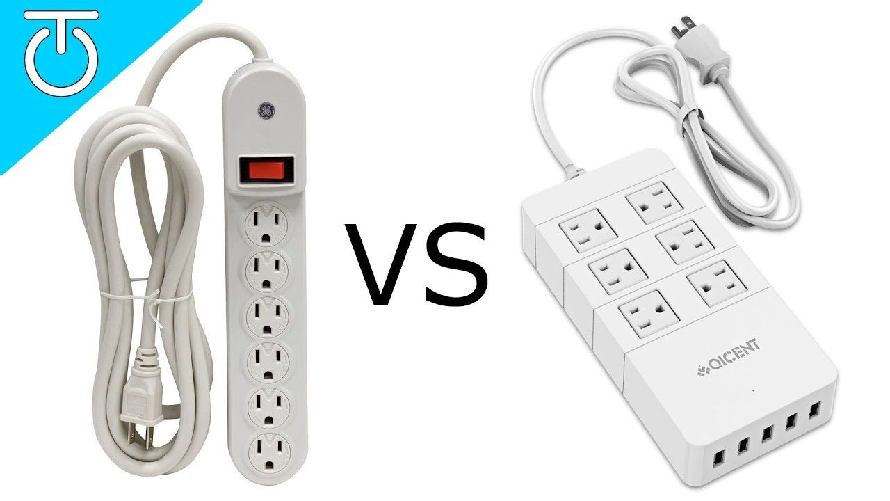 Power Strip Vs Surge Protector Qicent 6 Outlet Surge Protector