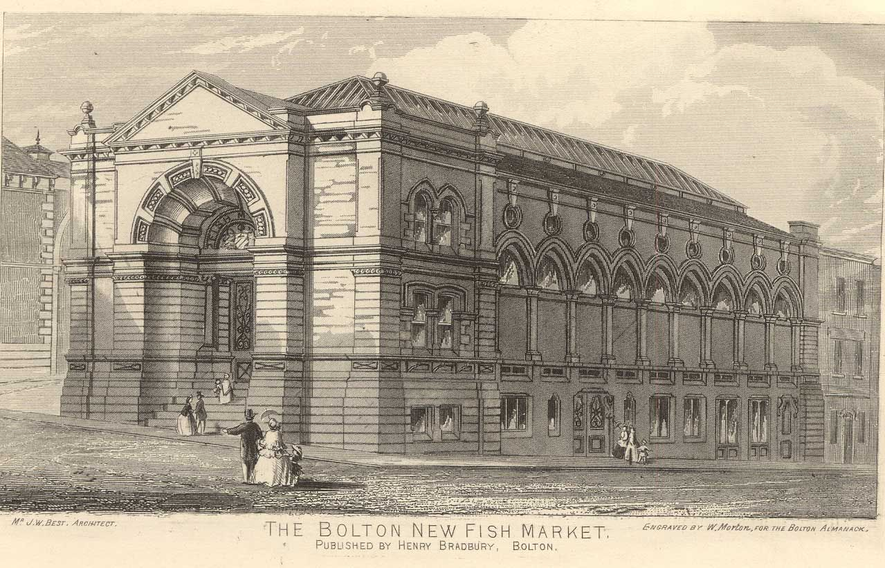 The new Fish Market, Bridge Street 1840 Building