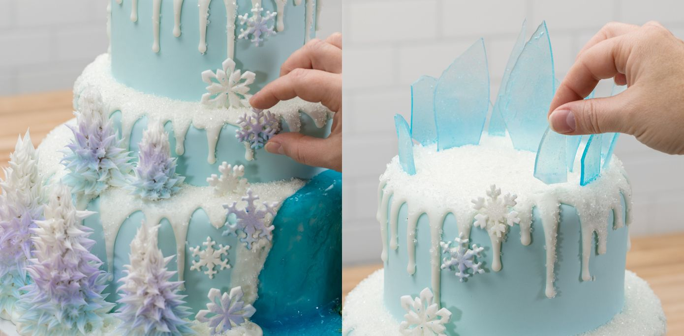 How To Make A Three Tier Frozen Birthday Cake Ice Cakes