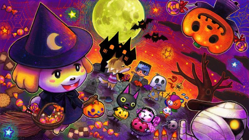 Halloween Animal Crossing With Images Animal Crossing Qr