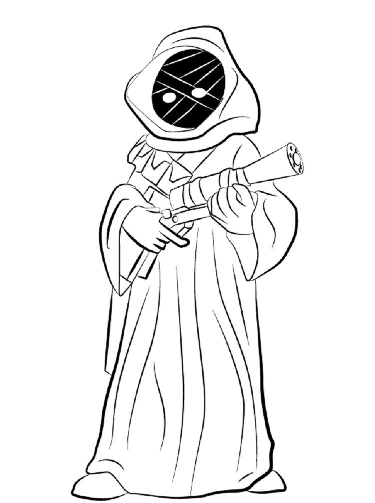 Star Wars Jawa Coloring Pages Coloring Pages For Kids Pinterest