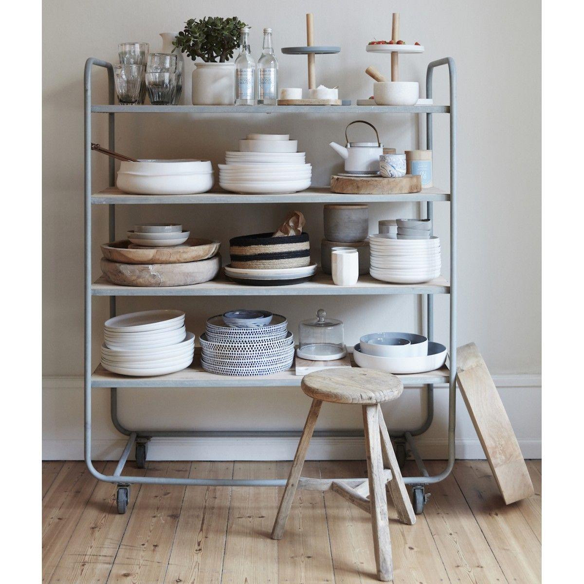tabouret en bois d 39 orme rond hubsch bois pinterest maison deco et vaisselle. Black Bedroom Furniture Sets. Home Design Ideas