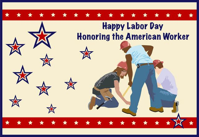 Labor Day Graphics and Vintage Cards