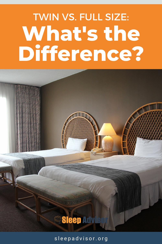 Twin Vs Full Mattress Size Comparison Sleep Advisor In 2020 Bed Sizes Mattress Sizes Full Bed