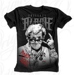 NEW! Original Black Granny T Shirt Black  Our Price: $28.00  Sale Price: $19.99   #Introducing #OriginalBlack #new #paint #original #artist #Tattoo #design #Artwork creation now #available at #cluburban.com #freeshipping #onSALe #SALE