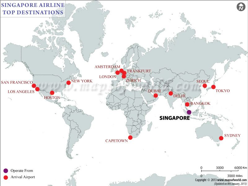 Singapore Airlines Flight Schedules - Singapore Airlines Flight ...