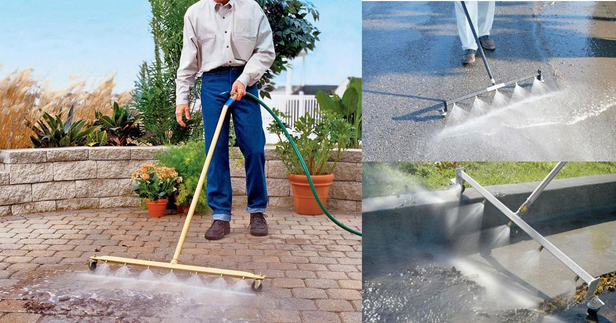 This Power Washing Broom Is a Genius Way To Clean Your