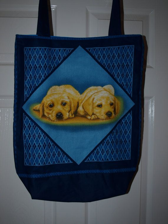 A stunning handmade tote bag of Two Labrador by woosbagsandcrafts, £9.00