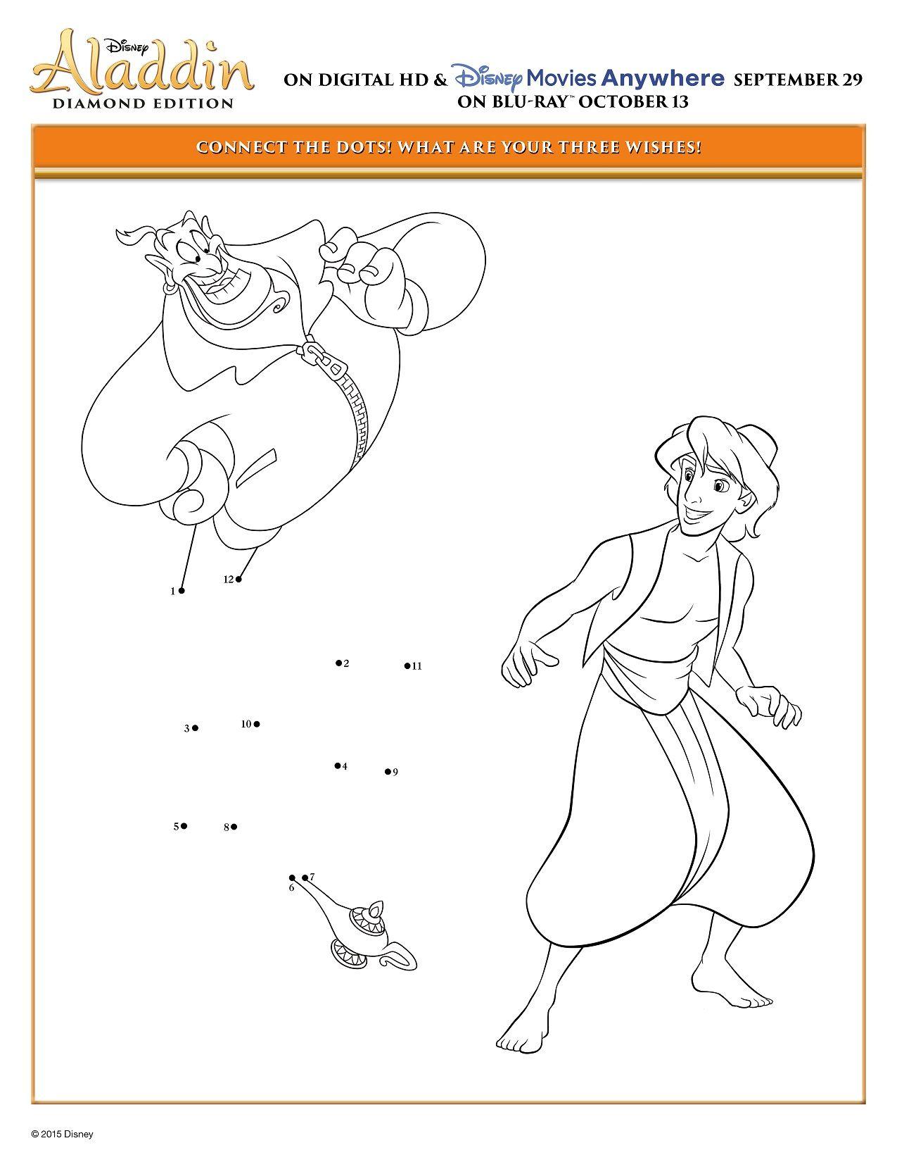 Disney S Aladdin Amp Princess Jasmine Printable Coloring