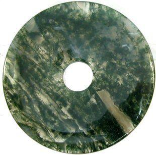 Moss Agate 50mm Donut Pendant