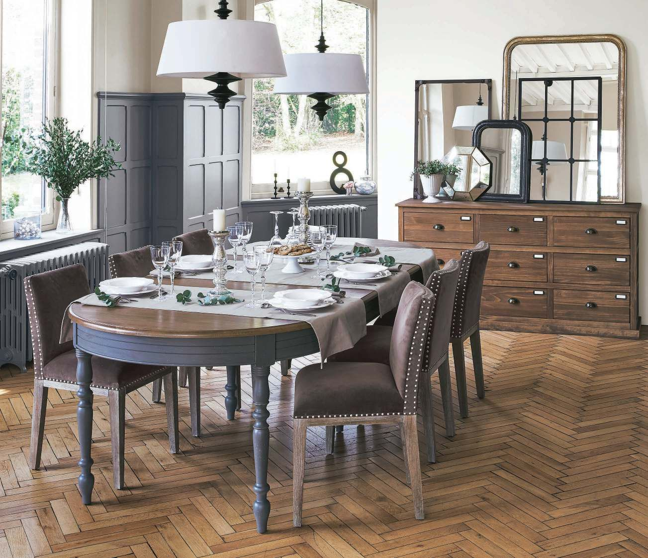 collection ah 2017 2018 catalogue la redoute int rieurs simple heritage table ch ne anthracite. Black Bedroom Furniture Sets. Home Design Ideas