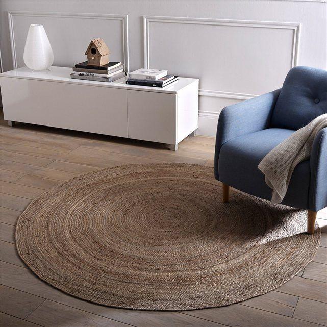 tapis en jute 160 cm col naturel aftas tapis. Black Bedroom Furniture Sets. Home Design Ideas