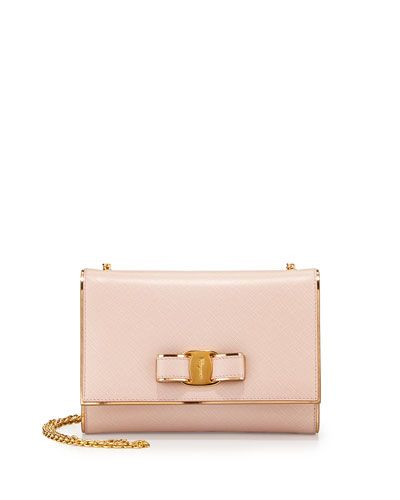 cross body bag in macaron pink