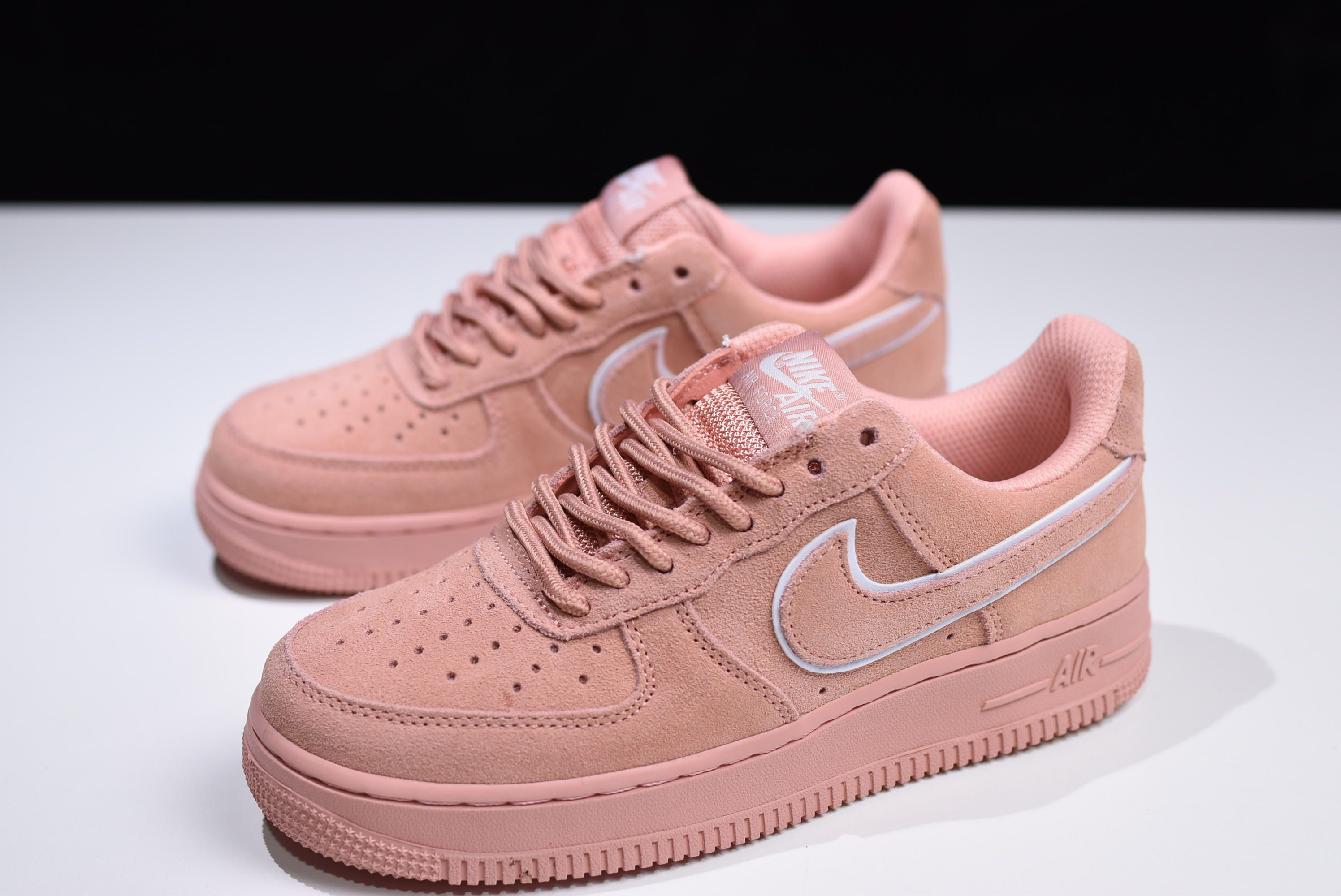 hot sale online d9dd1 89362 WMNS Nike Air Force 1  07 LV8 Suede Red Stardust Dragon Red AA1117-601