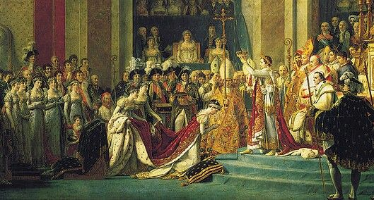 Scene from The Coronation of Napoleon by J-L David c. 1805-7