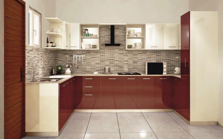 U Shaped Modern Kitchen Ideas Designideas Homestyle Interiors Interiordesignideas Kitchen Cabinets Color Combination Kitchen Modular Kitchen Design Small