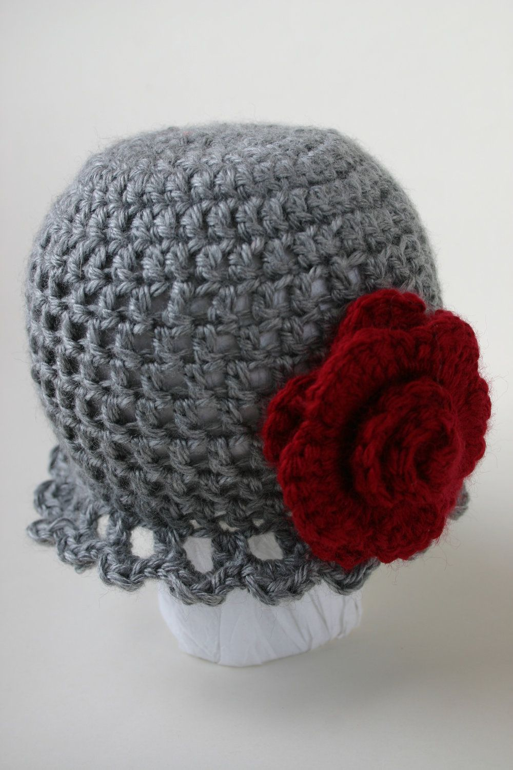 Deep red rose newborn hat roses pinterest newborn hats