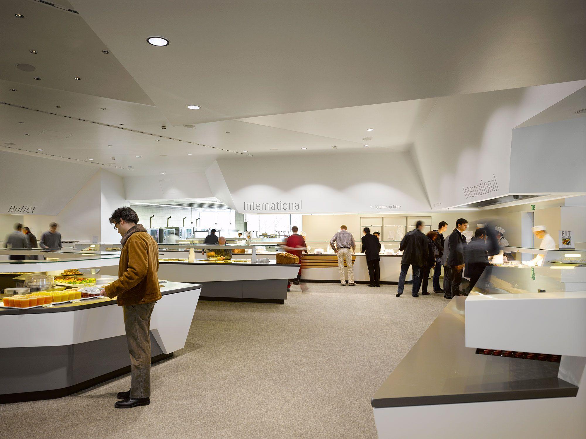Mitarbeiterrestaurant scope office for architecture for Stuttgart innenarchitektur