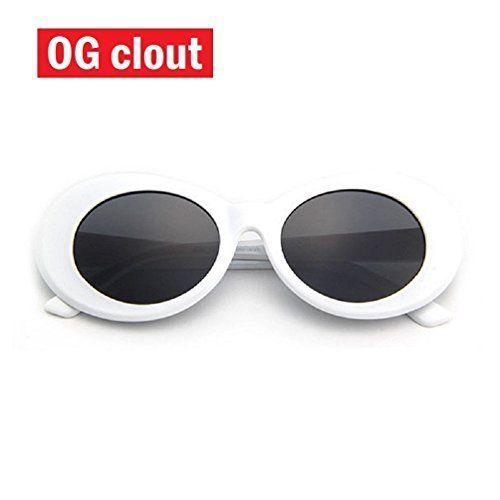 977e65752c THE ORIGINAL Clout Goggles -  1 Famous White Oval Retro Sunglasses - Unisex
