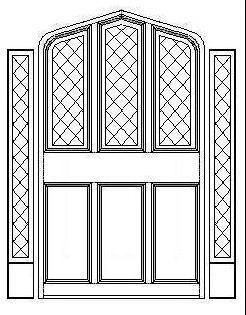 Tudor Windows tudor gothic panel door with triple diamond windows and diamond