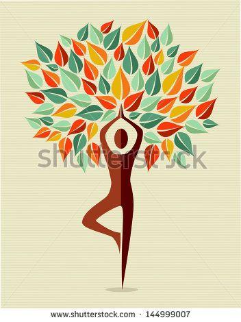 yoga stock vectors  vector clip art  yoga tree yoga art