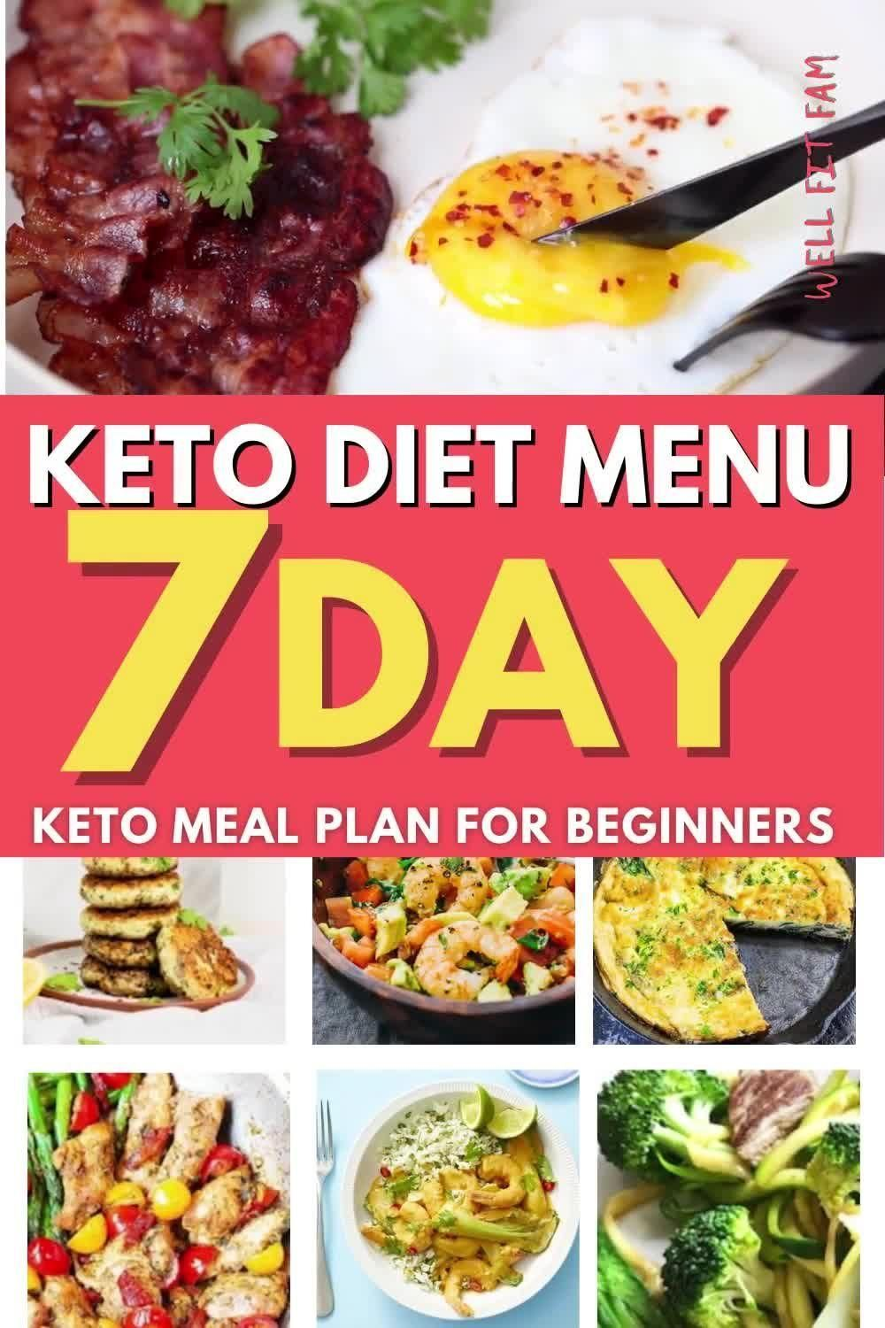 7-Day Keto Diet Meal Plan for Beginners To Lose Weight [W/ Grocery List] -   18 meal prep recipes for weight loss keto ideas