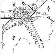 X Wing Fighter Of Luke Skywalker Coloring Page Movie Coloring