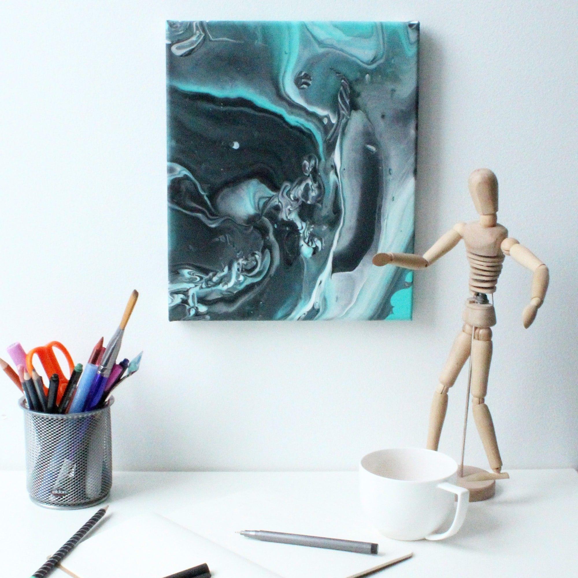 Peinture Abstraite Coulage Sur Toile Abstract Pinterest