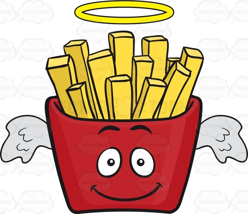 angel red pack of french fries emoji in 2020 french fries emoji fries pinterest