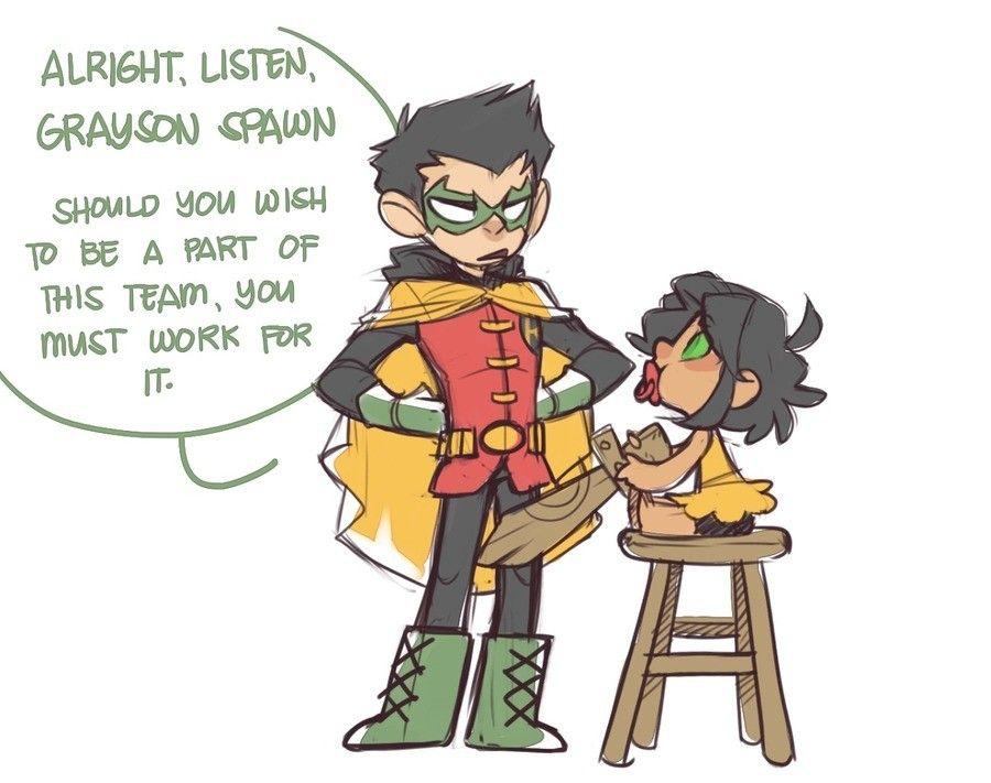 Damien giving Mari the hero talk.