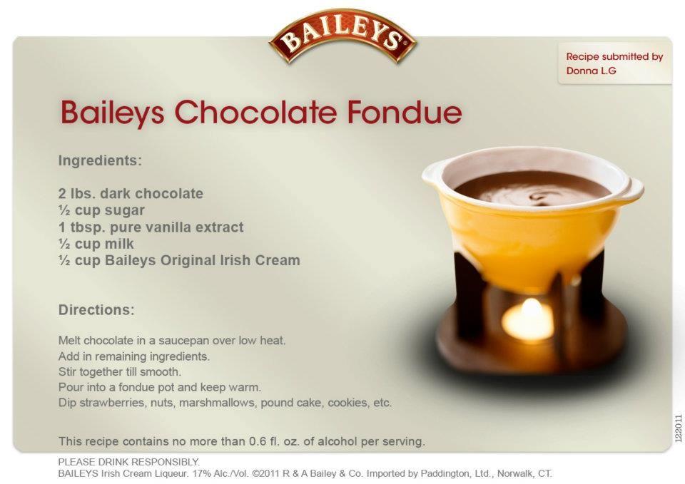 melting pot baileys chocolate fondue recipes