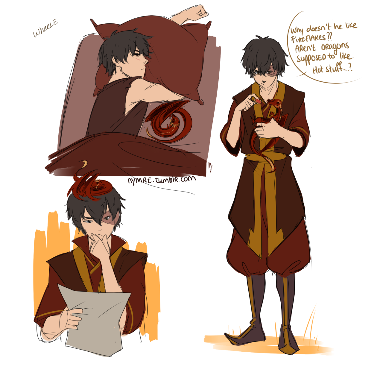 Avatar Airbender: Zuko The Dragon-Mom