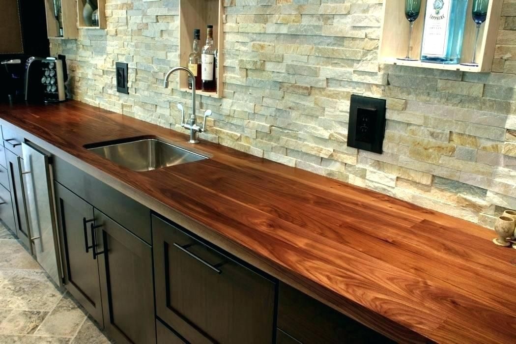 How To Finish And Protect Wood Counters Around A Sink Wood Countertops Kitchen Replacing Kitchen Countertops Kitchen Counter Decor