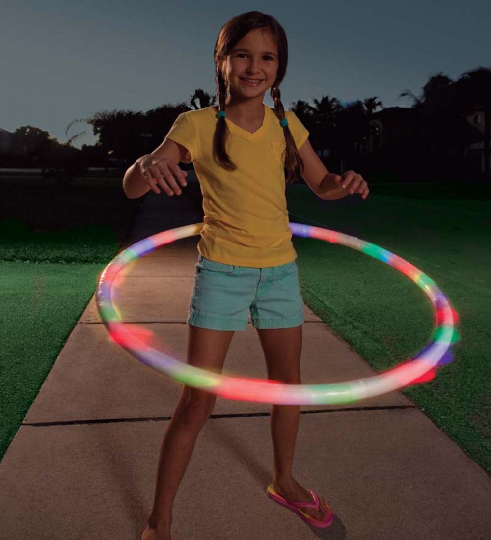 Light Up Hula Hoop Hearthsong Celebrates Gift Finder Hearthsong Hula Hoop Hula Hoop Light Exercise For Kids