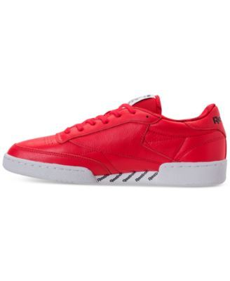 21bdec8dd5c5 Reebok Men s Club C 85 Casual Sneakers from Finish Line - PRIMAL RED WHITE  BLACK 11.5