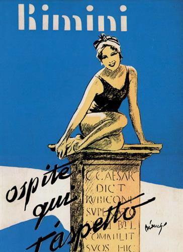Rimini 1931 Ospite qui t'aspetto. Illustrazione per la ...