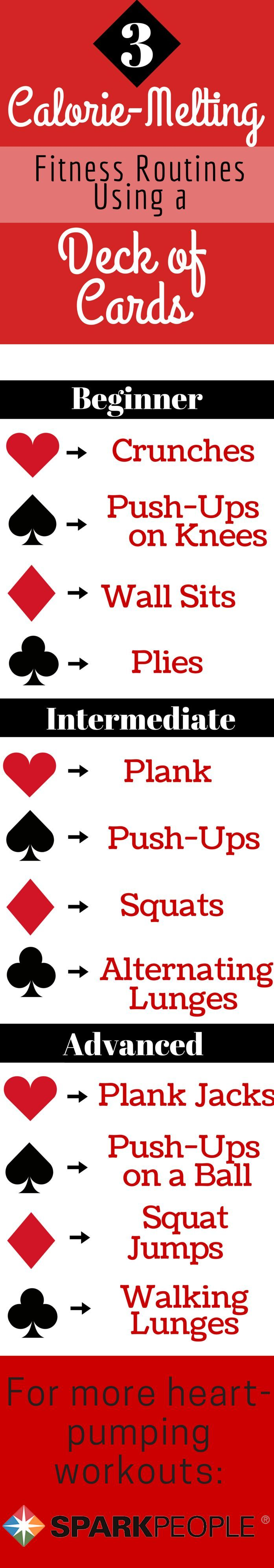 Ace Your Next Workout with a Deck of Cards. Stuck in a rut? Your next workout is just a deck of cards away! | via @SparkPeople