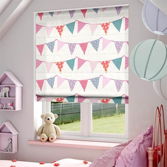 baby bunting dainty pink roman blind - Blinds For Baby Room
