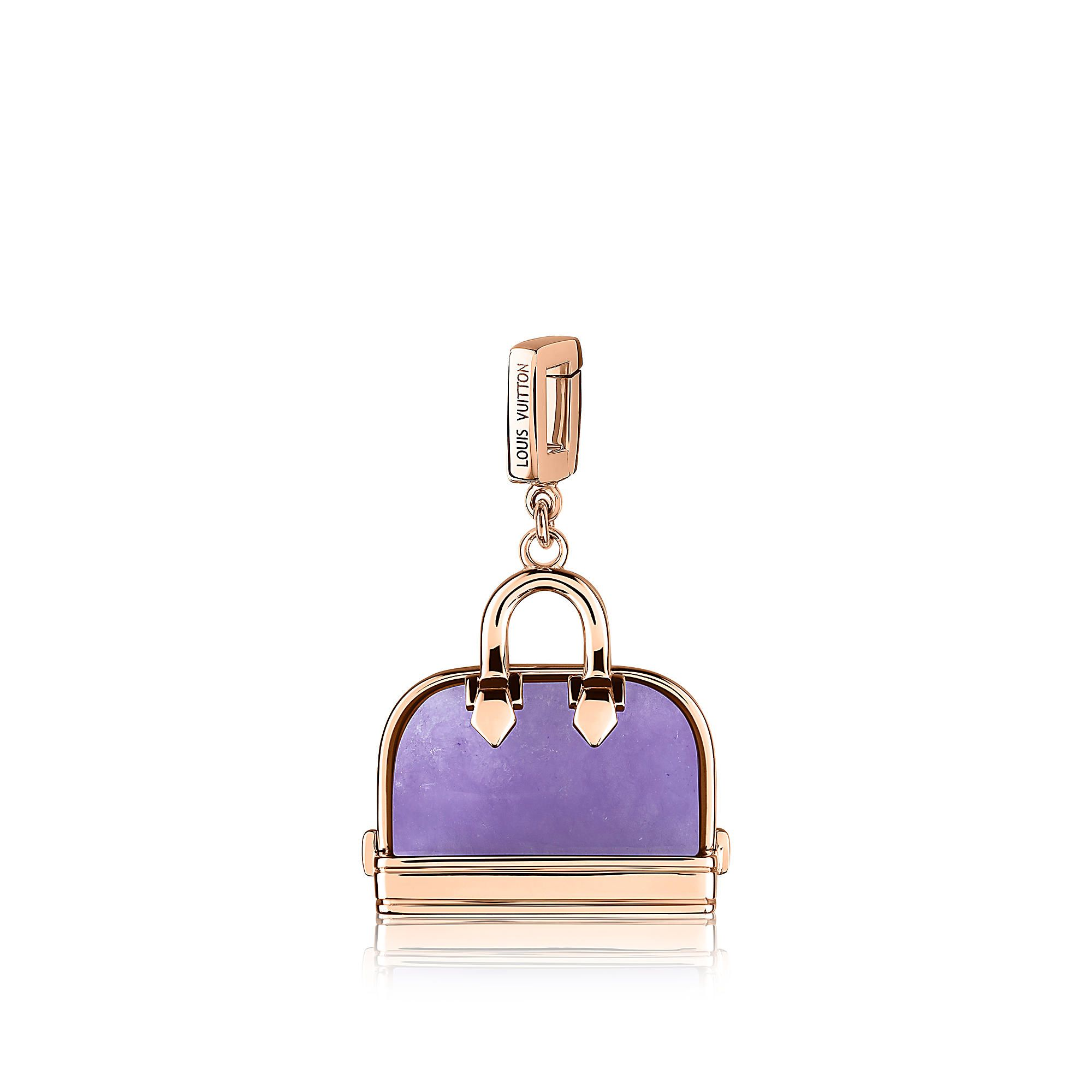 Discover louis vuitton alma charm in pink gold and lavender jadeite
