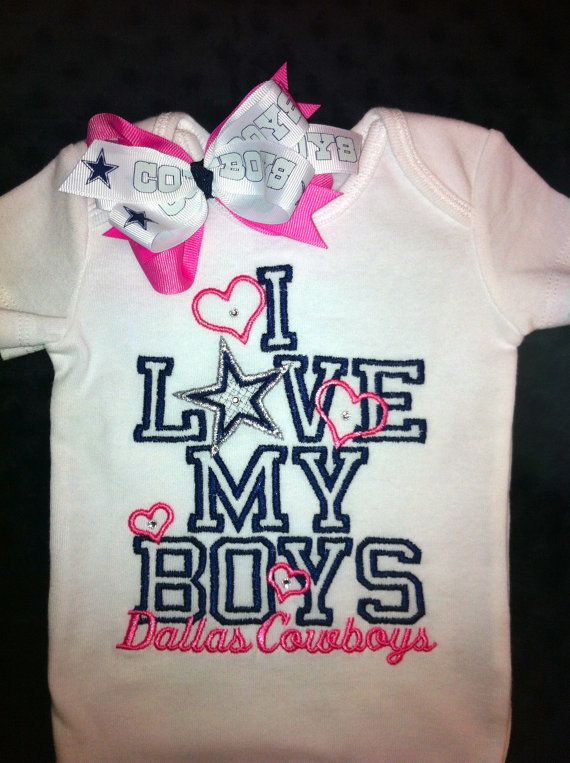 9a8722373 DALLAS COWBOYS Onesie and Bow Set by christimaher on Etsy