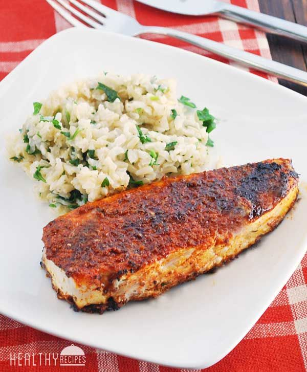 Blackened Halibut #cajundishes