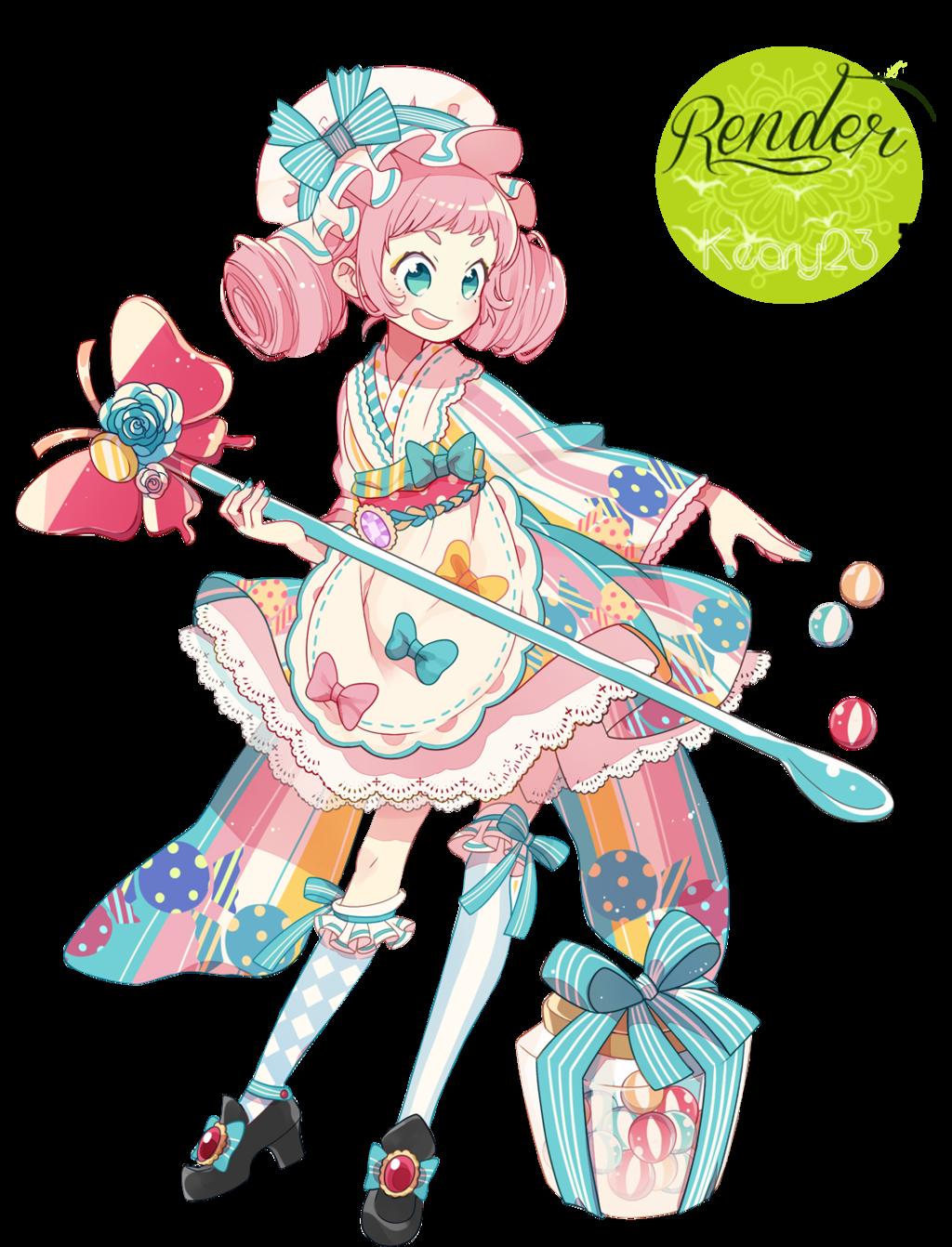Render 21 Candy girl. by Keary23 on DeviantArt 캐릭터