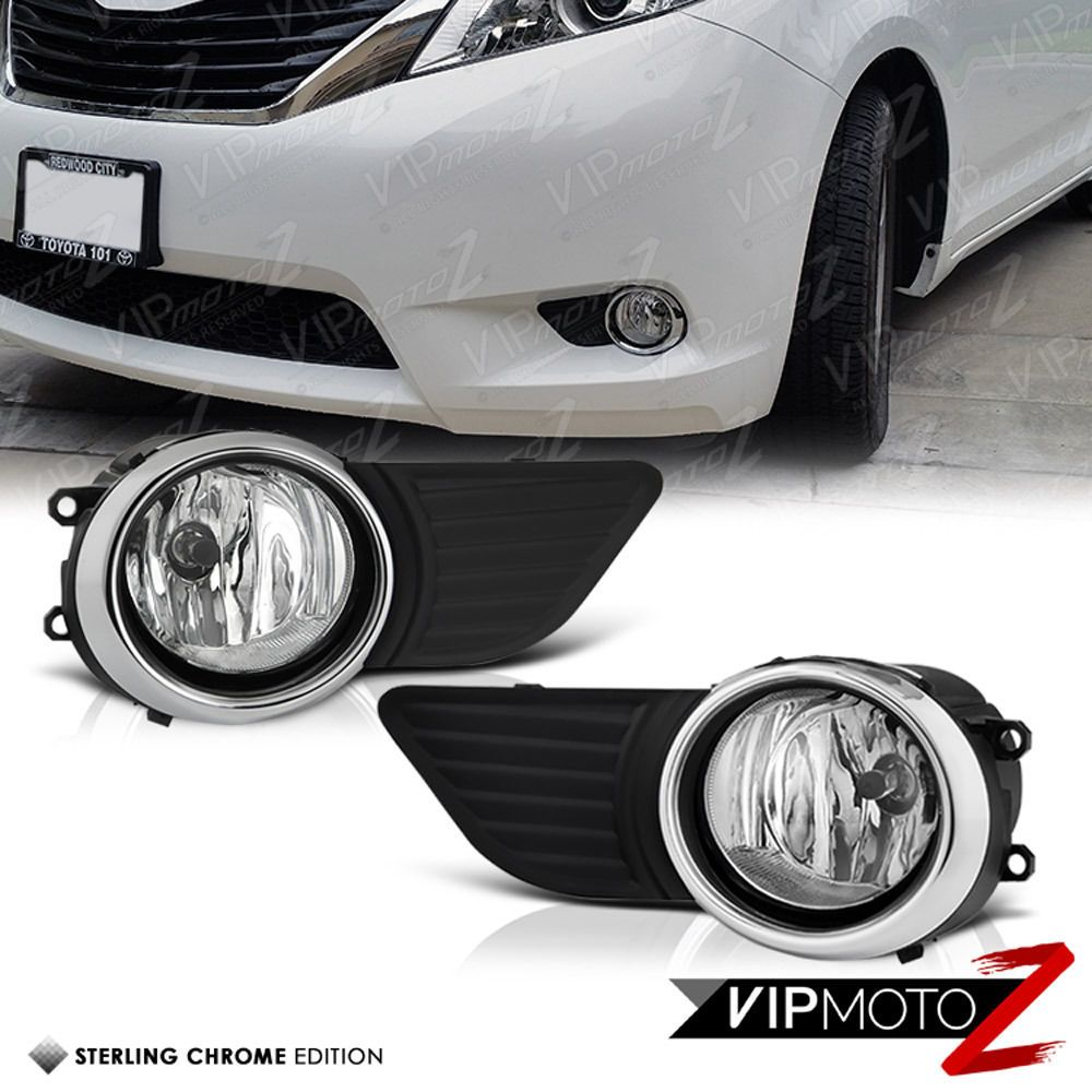 2011 2016 Toyota Sienna Clear Fog Lights Bumper Lamps Set W Switch Wiring 2015